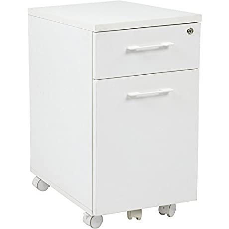 Prado Mobile File In White With Hidden Drawer And Castors RTM256310