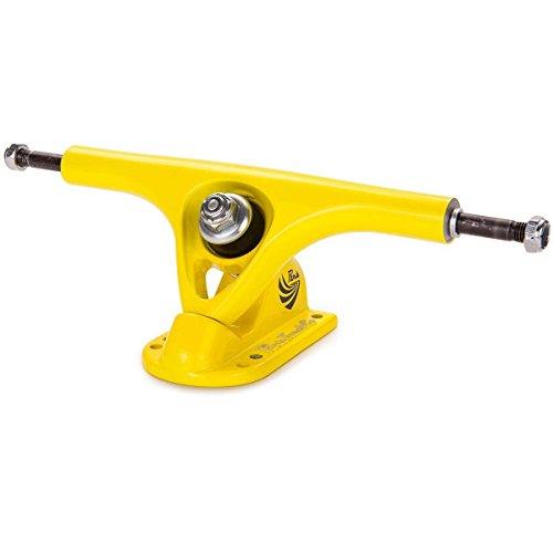 Yel Truck (Paris V2 180mm 50° Longboard Skateboard Trucks (Set of 2, Yellow/Yellow))