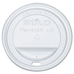 Solo Drink-Thru Lid, White, 300/Carton (SLOOFTL360007) Category: Cup Lids