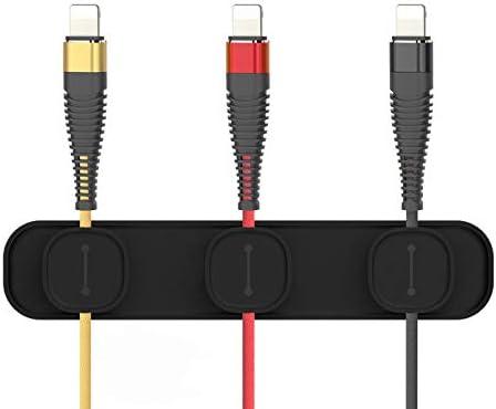 OUNONA Clip Magn/ético de Cables Organizador de Cable Multiusos con Hebillas para Cables de Escritorio
