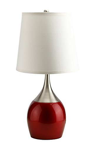 (Major-Q k8-310rd Finish Table Touch Lamp, 24
