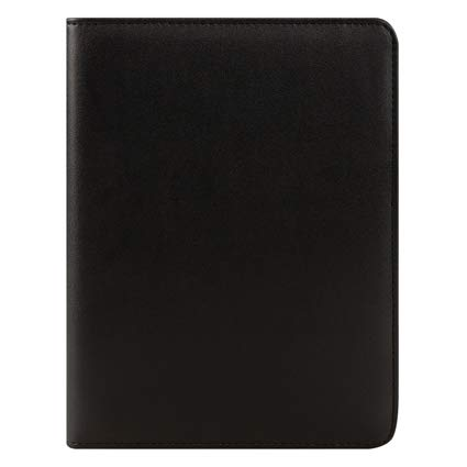Classic FC Basics Slim Simulated Leather Open Wire-Bound Cover - Black by Franklin Covey