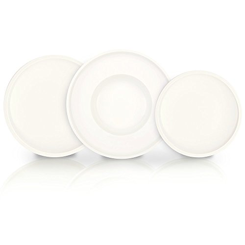 Artesano Dinnerware Set of 12 by Villeroy & Boch - Premium Porcelain - Made in Germany - Dishwasher and Microwave Safe - Includes Dinner, Salad, and Pasta Plates - Service for 4 by Villeroy & Boch