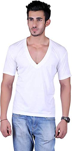 Vivid Bharti Gents Deep V Neck Half Sleeves Tshirt