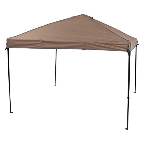 TrueShade Plus Outdoor Pop Up Portable Shade Tent Instant Folding Canopy with Carry Bag (10'W x 10'L x 10'8″ H) Khaki For Sale