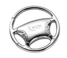 Personalized Steering Wheel Designed Key Chain - Car and Automobile Gift - Free Engraving