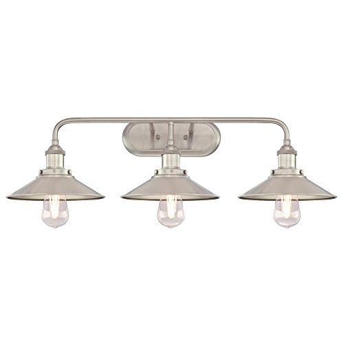 Westinghouse 6336700 Maggie Three Indoor Wall Fixture, Brushed Nickel Finish, 3 Light