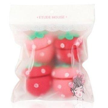 Etude House Strawberry Sponge Hair Roller x 4ea (Hair Roller)