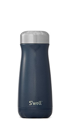 S'well 10316-B17-00640 Stainless Steel Travel Mug, 16oz, Midnight Blue (Blue Bottle Coffee Beans)