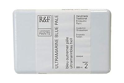R&F Handmade Paints 122J encaustic Paint Cake, 333ml, Ultramarine Blue Pale