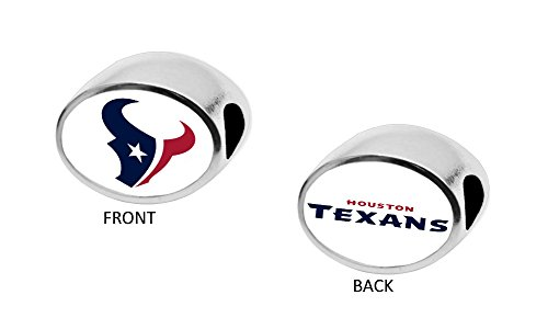 Final Touch Gifts Houston Texans 2-Sided Bead Fits Most Bracelet Lines Including Pandora, Chamilia, Troll, Biagi, Zable, Kera, Personality, Reflections, Silverado and More