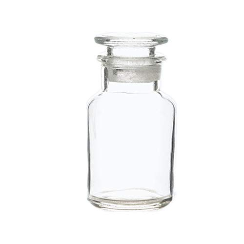 (Deschem 250ml Lab Glass Reagent Bottle,Wide Mouth,with/Glass Stopper)