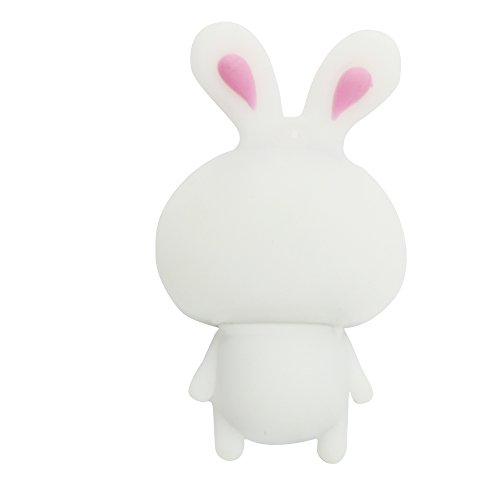 CHUYI Cute and Novelty Animal Series Rabbit Shape Design 32GB USB 2.0 Flash Drive Pen Drive Memory Stick Cartoon Thumb Drive Lovely Jump Drive Data Storage U Disk Gift (White) by CHUYI (Image #3)