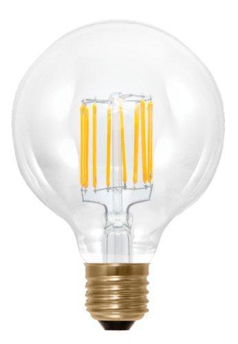 bombilla globo LED Filamento E27 4 W 450 lúmenes, G95, luz blanco cálido 2700