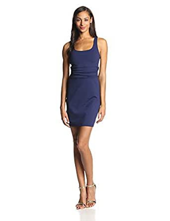Susana Monaco Women's Supplex Gathered Waist 19 Inch Tank Dress, Azure, X-Small