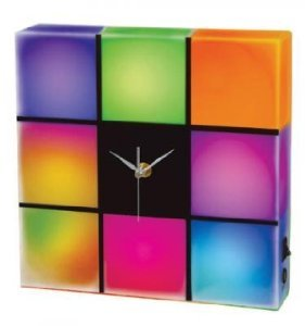 Cresta LED Color Changing Panel with Clock - Led Color Changing Panel
