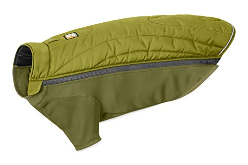 RUFFWEAR - Powder Hound Insulated, Water Resistant Jacket for Dogs for Cold Weather, Forest Green, Small - Rain Forest Dog Coat
