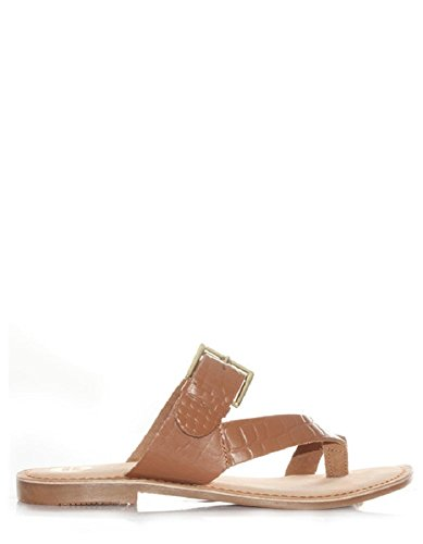 Gioseppo Brown Flat Sandals Poncey by (40 - Brown)