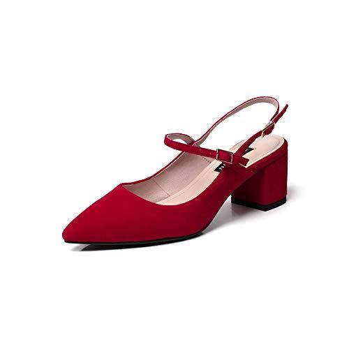 SDC06012 Compensées EU 5 Red 36 Femme AdeeSu Sandales Rouge FqPzzT
