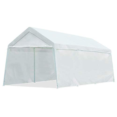 Quictent 20' x 10' Carport Heavy Duty Car Canopy Garage Gazebo Car Shelter White