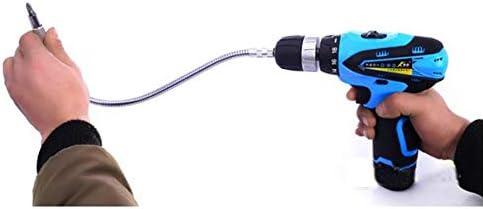 Robuster Multifunktions-Bohrerhalter aus Metall mit flexibler Welle und Verbindungsglied f/ür elektronische Bohrverl/ängerung Silber 200 mm