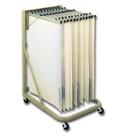Safco Vertical Roll File (Safco Prod. Co., Mobile Vertical Filing Stand, H5052, Stand W/Clamp Size: 24