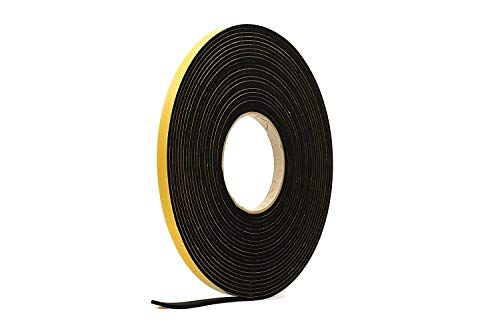 neoprene rubber self adhesive strip 10mm wide x 5mm thick x 10m long by rubber products