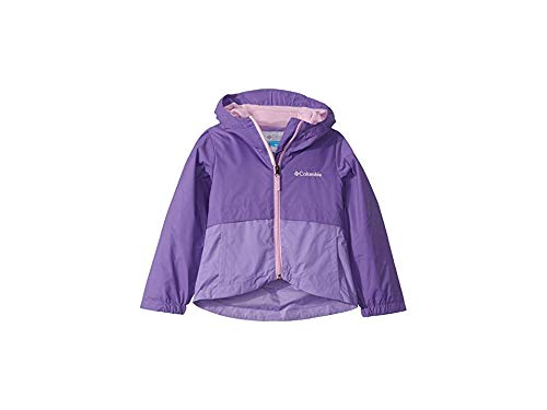 Columbia Girls' Big Rain-Zilla Jacket, Grape Gum/Paisley Purple, Medium by Columbia