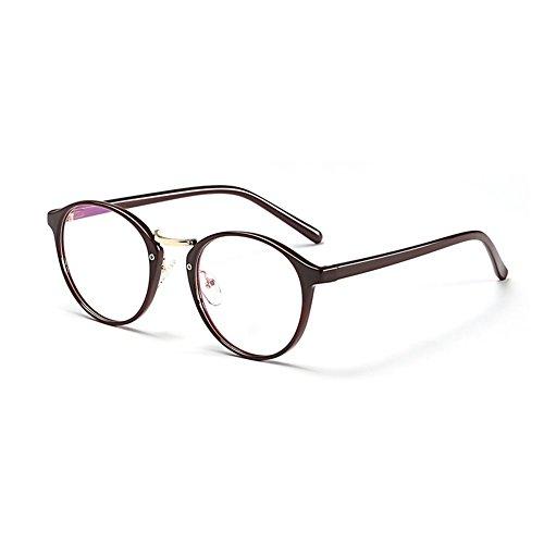 Acogedor Gafas YQ Color QY 1 Retro Redondas 3 Unisex Plano Ultralight Espejo W44wqp5x0