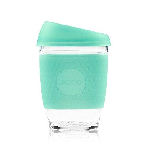 JOCO Glass Reusable 12oz Coffee Cup (Vintage Green Sea Glass)