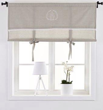 Visillo cortinas cortina Estor Cortina 120 x 100 cm (BxH) bordada ...