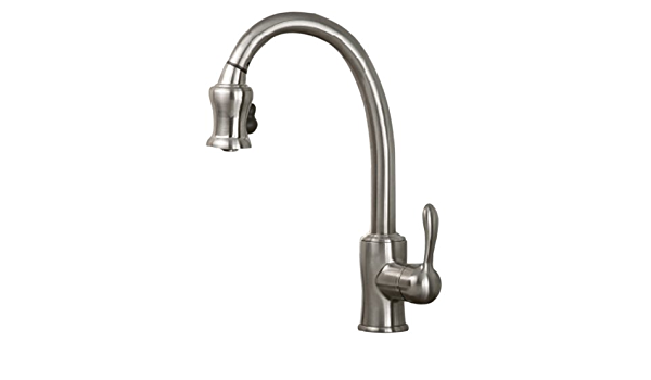 Pegasus Fp0a4023bnv Livia Pull Out Spray Kitchen Faucet Brushed Nickel Touch On Kitchen Sink Faucets Amazon Com