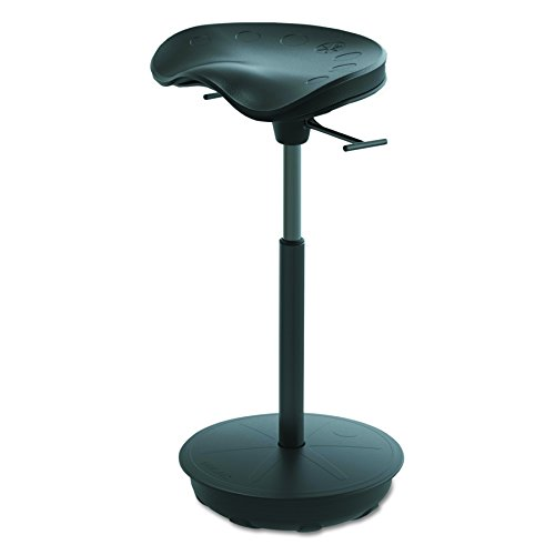 Active Collection FWS-1000-BK Pivot Stand-up Leaning Seat , Matte Black