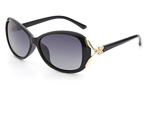 single special clearance women sunglasses polarized sunglasses,Brown marking frame black film ()