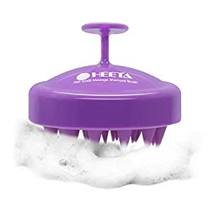 Hair Shampoo Brush, Heeta Scalp Care Brush with Soft Silicone Head Massager for Women, Men, Pet (Purple)