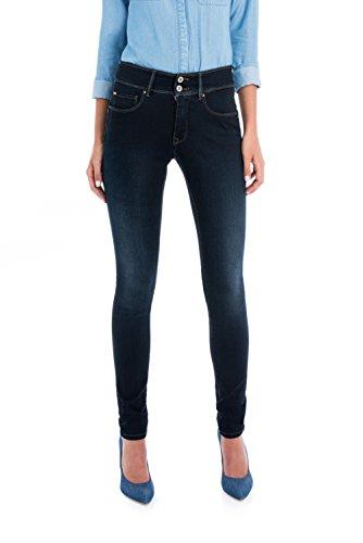 Secret Skinny Pantaloni Azzuro Push Trama In Salsa Colore T4t8K