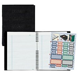 Rediform(R) NotePro(R) Executive Notebook, 9 1/4in. x 7 1/4in, College Ruled, 150 Pages, 50% Recycled, Black Notepro Notebook