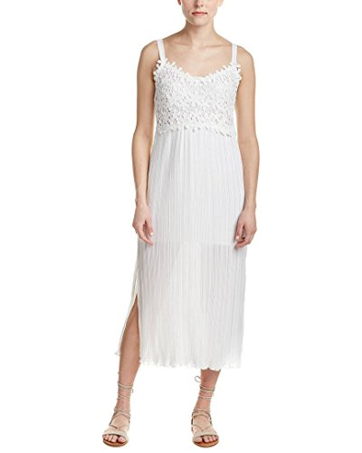 French Connection Women's Posy Lace Strappy Maxi Dress, Summer White, 2 316mXacQT7L