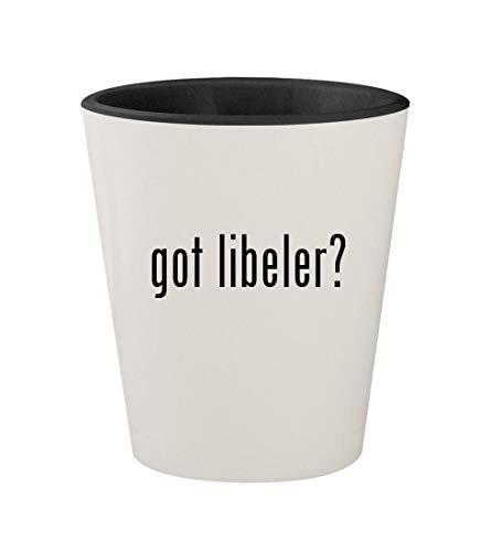 got libeler? - Ceramic White Outer & Black Inner 1.5oz Shot Glass