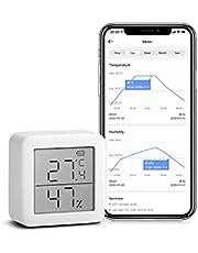 SwitchBot Thermometer Hygrometer Wireless Indoor Vochtsensor Add SwitchBot Hub Plus / Mini compatibel met Alexa, Google Home, HomePod, IFTTT