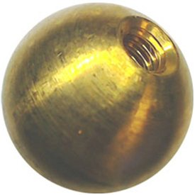 49 5/8'' dia. threaded 8-32 brass balls drilled tapped lamp finials by Bearing Ball Store