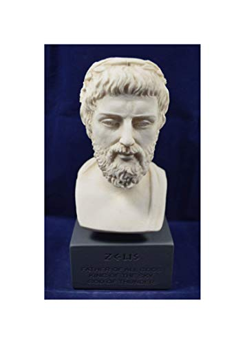Estia Creations Zeus Sculpture Statue Ancient Greek God King of All Gods Museum Reproduction Bust