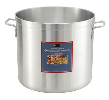 100 Winco ALHP-160 6.0mm Aluminum Stock Pot, 160-Quart