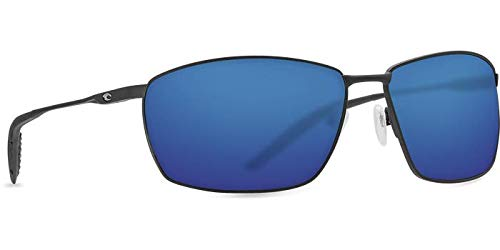 Costa Del Mar Turret Sunglasses, Matte Black, Blue Mirror, 580P - TRT 11 OBMP (Costa Kerl)