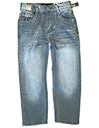 Boy's Straight Fit Mercerized Baked Denim Jeans
