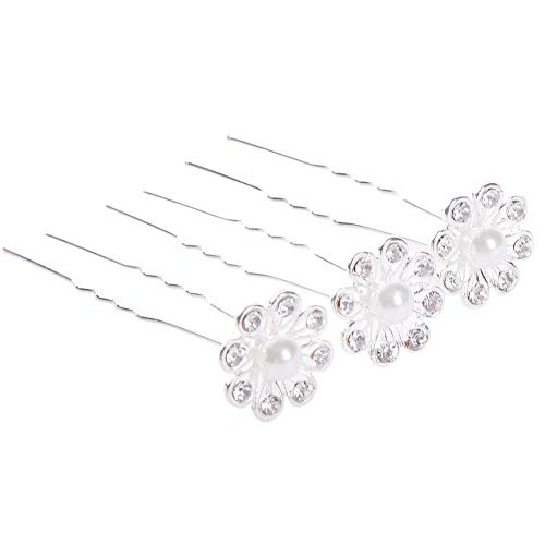 20pcs Crystal Rhinestone Pearl Wedding Party Bridal Prom Star Hair Pin Clips Lot (StyleID - #9_20pcs Water droplets hair .)