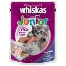 Amazon.com: Whiskas Junior Caballa Sabor Cat Food 85 g: Mascotas