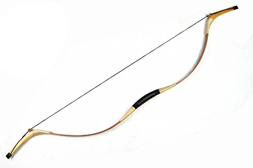 AC Traditional Mongolian Handmade Ambidextrous Brown Recurve Bow Archery Bow for Huntting 20-70LBS (25lbs)