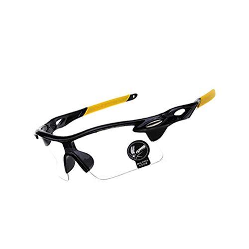 Men Women Cycling Glasses Outdoor Sport Mountain Bike MTB Bicycle Glasses Motorcycle Sunglasses Eyewear,Light Yellow
