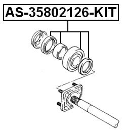 Axle Suzuki Ball Bearing Kit Rear Axle Shaft Febest 09282-48003 Oem
